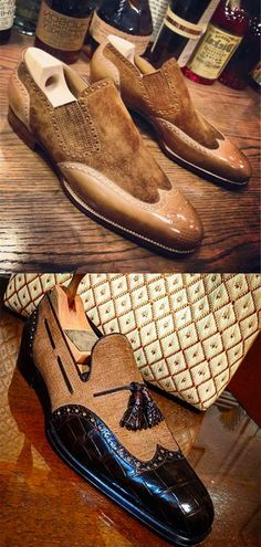 Mens Leather Loafers, Tan Leather Boots, Trendy Shoes, Casual Shoes, Suede Shoes, Shoe Boots, African Wear Styles For Men, Gentleman Shoes, Mens Fashion Suits