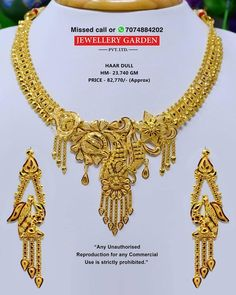 Gold Jewelry In Italy Light Weight Gold Jewellery, 1 Gram Gold Jewellery, Gold Jewellery Design, Silver Jewelry, Indian Jewelry, Chand Bali Earrings Gold, Gold Necklace Simple, Gold Necklaces, Latest Bridal Mehndi Designs