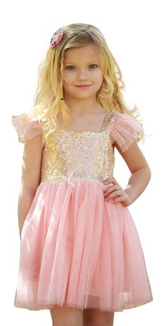 Princess Costumes Sequins Dress Up Party Outfit For Toddler Girls Short Sleeve, 130//5T-6T