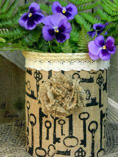 Coffee Can Centerpiece Burlap-DIY...