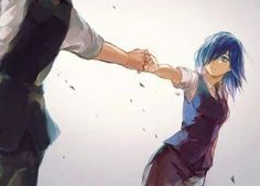 They are in love, I am sure!! Kaneki X Touka from Tokyo Ghoul.