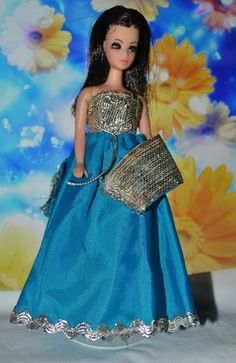 Topper Dawn Angie Doll wearing Bluebell Gown & Shawl. Vintage Fun