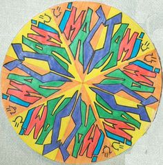 Here's another mandala lesson focusing on lines of symmetry.