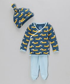 O.M.GEEE!!!! Love this! Take a look at this Twilight Pretzel & Pup Wrap Top Set - Infant by KicKee Pants on #zulily today!