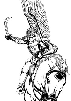 Polish Winged Hussars - a heavily armored shock cavalry study of the drawings (pencils, etc.) HUSARIA to siejące grozę polskie oddzia . Polish Tattoos, Shield Tattoo, Medieval Shields, Patriotic Tattoos, Japanese Oni, Warrior Tattoos, Harry Potter Tattoos, Fantasy Inspiration, Poland History
