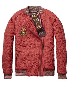 Scotch R'Belle Reversible Quilted Star Print Bomber Jacket