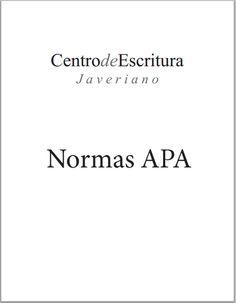 Centro de escritura Javeriano: Normas APA para los escritos académicos - RedDOLAC - Red de Docentes de América Latina y del Caribe -