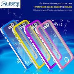 Really Fully Waterproof Cell Phone Cover Cases For iPhone 5S 5 Waterproof Cases for Diving Underwater Dirt Shockproof