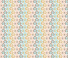 Honeycomb IKAT - White fabric by pattysloniger for sale on Spoonflower - custom fabric
