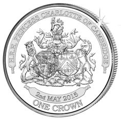 Ascension Island 2015 - Princess Charlotte of Cambridge - Proof Sterling Silver Crown