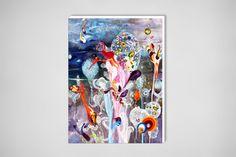 "Saatchi Online Artist: Amanda Krantz; Acrylic, 2013, Painting ""Oh, the places you'll go!"""