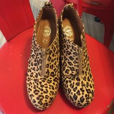 Cheetah booties Cheetah booties Jeffrey Campbell Shoes Ankle Boots & Booties