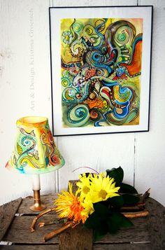 Beautiful Inspiring Original Painting in Frame by KaGeyWonderworks