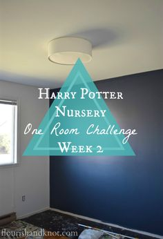 Our #HarryPotter #nursery is coming along magically! | One Room Challenge - Week 2 | flourishandknot.com