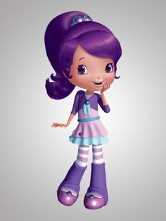 Strawberry Shortcake's Berry Bitty Adventures (TV show) Plum Pudding is voiced by Ashleigh Ball Strawberry Shortcake Cartoon, Raspberry Torte, Disney Princess Facts, Children Sketch, Pose, All Things Purple, Illustrations, Cartoon Characters, My Little Pony