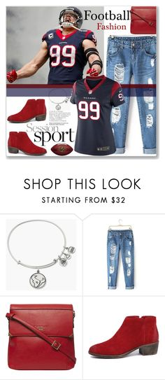 """Football Game #2😍"" by amethyst0818 ❤ liked on Polyvore featuring Alex and Ani, Fiorelli and NIKE"