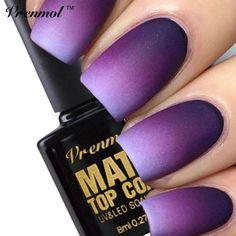 Vrenmol 1pcs Cleaning Matt Top Coat Nail Gel Polish Long Lasting Matte Top coat LED UV Nails Gel Lacquer Matt Top Gel