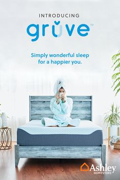 Get a head start on tomorrow with a better night's #sleep today. 😴 Ashley HomeStore has officially launched Gruve, a #mattress in a box to help revolutionize the way you sleep. Elevate your #nighttime #routine from the first unboxing with comfortable and innovative sleep technology. Click the link to start your journey toward a restorative sleeping experience.