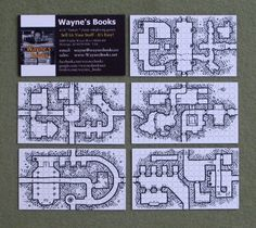 It has begun… Business cards have started popping up in the wild with dungeon geomorphs on the back! The picture above is actually someone I know personally who is using them on her home-prin…