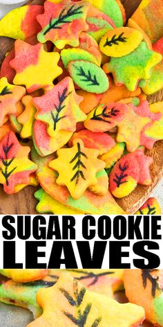 FALL COOKIES (LEAF COOKIES)- Use this step by step tutorial to learn how to make quick and easy sugar cookie leaves. You just need colored cookie dough. Kids can help too! Great for Thanksgiving prties or Halloween parties. From CakeWhiz.com #cookies #cookiedecorating #kids #thanksgiving