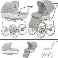 Inglesina SYSTM12BTL Classica Pram and Seat with Raincover - Betulla Light Gray White: Baby