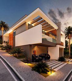 Home luxury exterior modern best ideas Design Exterior, Modern Exterior, Villa Design, House Front Design, Modern House Design, Modern Architecture House, Residential Architecture, Amazing Architecture, Dream House Exterior