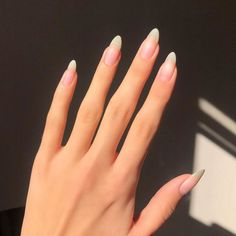 Cute Acrylic Nails, Cute Nails, Pretty Nails, Acrylic Toes, Minimalist Nails, Long Natural Nails, Long Nails, Solid Color Nails, Nail Colors