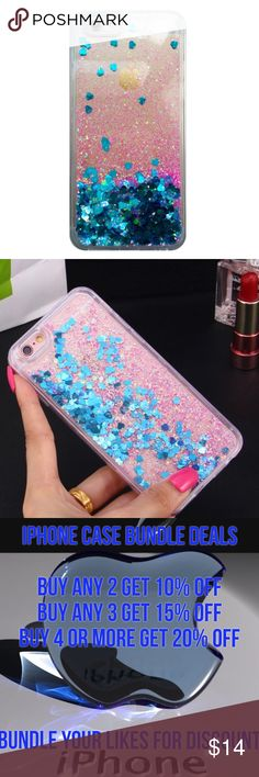 iPhone 6s Liquid Glitter Quick Sand Case ➡️Discount Only With Bundle Of 2 Or More Items⬅️  Show off your iPhone while protecting it from bumps and scratches.  * High Quality Hardshell Case * Gorgeous Glitter with Blue Hearts  * Bump/ Anti Shock  * Fitted Design * New In Package  * Same Or Next Day Shipping Accessories