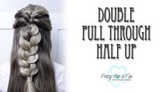 THREE EASY HALF UP HAIRSTYLES! Braid Half Up Half Down, Braided Half Up, Zipper Braid, Five Strand Braids, Infinity Braid, Braid Tutorials, Pretty Braids, Flower Braids