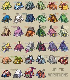 Joltik breeding variations because they are my favorite fuzzy spider baby. \;u;/ work © Ink--It, do not repost, re-distribute, edit, use, etc. without express and explicit permission