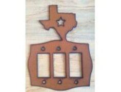 Texas Triple Rocker Lightswitch Cover