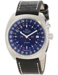 Glycine Men's 3903-188-LB9 Airman Automatic 3 Time Zone GMT Watch