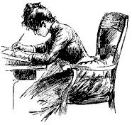 woman writing   Eliza's Writing and Reading Room: The Old Woman