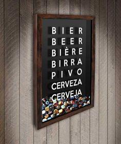 Quadro para Tampinhas de Cerveja - Mundo - Quadro Novo - Quadros Porta Rolhas