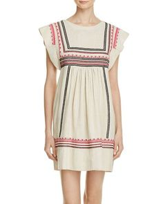Rebecca Minkoff Meads Embroidered Silk Dress
