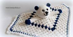 Usínáček pro šibálka Crochet Toys, Free Crochet, Beanie, Teddy Bear, Animals, Crochet Patterns, Anna, Gifts, Scrappy Quilts