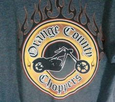 Orange County Choppers Mens Size Large Long Sleeve T-Shirt Motorcycle OCC Flames #orangecountychoppers #GraphicTee