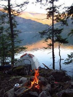 RV And Camping. Great Ideas To Think About Before Your Camping Trip. For many, camping provides a relaxing way to reconnect with the natural world. If camping is something that you want to do, then you need to have some idea Camping Am See, Camping And Hiking, Camping Life, Camping Ideas, Camping Hacks, Camping Crafts, Travel Hacks, Camping Packing, Camping Supplies
