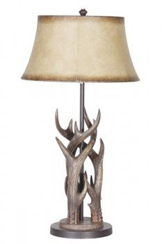Triple Antler Lamp W/Shade Country Decor, Rustic Decor, Antler Lamp, Antler Crafts, Country House Interior, Skull Decor, Country Style Homes, Antlers, Rustic Furniture