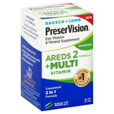 8113be9f80e Bausch + Lomb Preservision 100-Count Areds 2 Formula + Multivitamin Soft  Gels