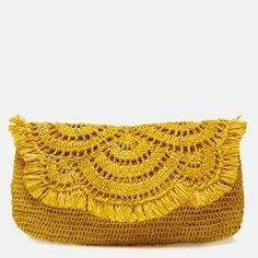 Knitting bag sewing pattern design New ideas Crochet Clutch Bags, Crochet Pouch, Crochet Handbags, Diy Crochet, Crochet Purses, Clutch Purse, Bag Patterns To Sew, Crochet Patterns, Crochet Shell Stitch