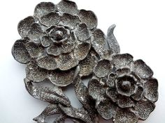 Fur Clip Art Deco Pot Metal Large Flower 4 by TheJewelryLadysStore