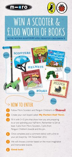 #win a #microscooter and Penguin books.