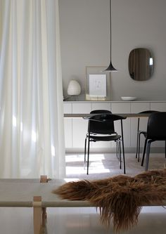 More than a curtain, Ready Made Curtain from Kvadrat Textiles can also serve as a flexible room divider!