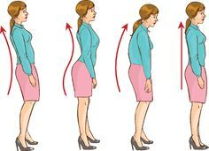Slouching is an easy habit to get into, especially if you spend a lot of time sitting–your rear end almost always ends up sliding forward in the chair, putting undue pressure on your lower back. Fix Bad Posture, Better Posture, Good Posture, Improve Posture, Posture Correction Exercises, Posture Exercises, Back Pain Exercises, Stretches, Neck And Back Pain