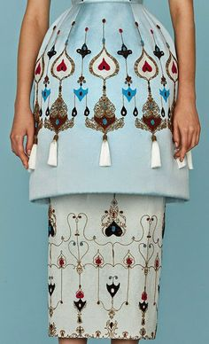 patternprints journal: PRINTS, PATTERNS AND TEXTILE SURFACES FROM HAUTE COUTURE CATWALKS (WOMENSWEAR S/S 2015) /  Ulyana Sergeenko