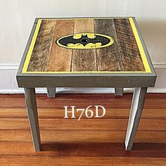 Batman themed child's table! Boom! #commission #batman #darkknight #art #artsy #artist #craft #crafter #create #creative #diy #decor #design #homedecor #handmade #handcrafted #handpainted #hayes76designs #imake #maker #paint #rustic #reclaimed #reclaimedwood #upcycling #vintage #wood #woodwork #woodworker #woodworking de tfrancis430