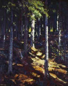 """Cathedral Woods, Monhegan Island,"" Robert Henri, 1911, oil on canvas, 31 7/8 x 25 7/8"", Toledo Museum of Art."