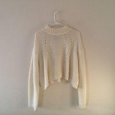 UNIF Lisa Sweater UNIF Lisa Knit Crop Sweater UNIF Sweaters Crew & Scoop Necks