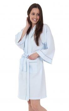 luxury spa robe - light blue